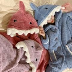 극세사 샤크 수면 잠옷 세트
