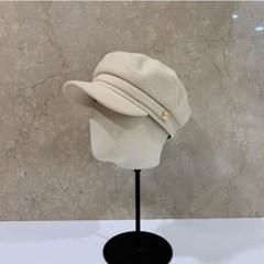 기본 단색 패션 데일리 챙긴 울 헌팅캡 마도로스 모자
