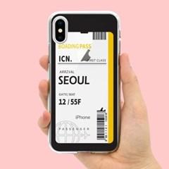 아이폰5 5S SE 에어플레인 티켓 투명 젤리 케이스