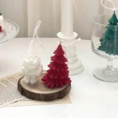 크리스마스 트리+산타요정+우드코스터 세트상품(선물포장)