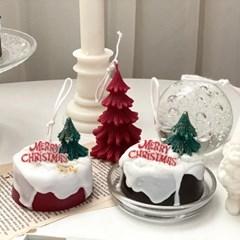 크리스마스 케이크 캔들 2size (선물상자)
