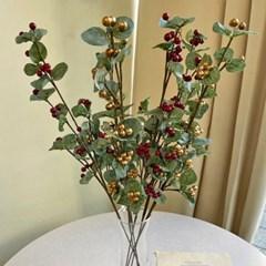 크리스마스 열매 유칼립투스 2color - 인테리어조화