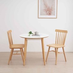 디센 스완 HPL 라미네이트 화이트 원형 식탁 테이블 800_(11054688)