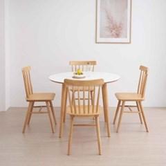 디센 스완 HPL 라미네이트 화이트 원형 식탁 테이블 100_(11054687)