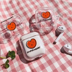 stupid heart airpods case