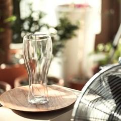 더블월 내열유리 이중유리컵 맥주유리컵 400ml_(1744052)