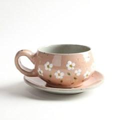 파스텔 들꽃 쌍화차잔 대추 생강 한방차잔 5color