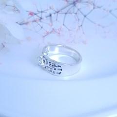크리스탈 한자 반지