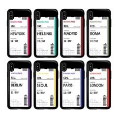 갤럭시 S6 에어플레인 티켓 카드 범퍼 케이스