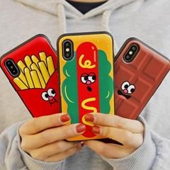 아이폰6 6S 패스트푸드 카드 도어 범퍼 케이스