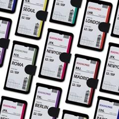 아이폰 6 6S플러스 에어플레인 티켓 사피아노 케이스