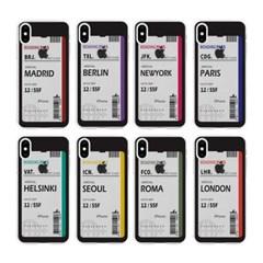 갤럭시 노트5 에어플레인 티켓 투명 젤리 케이스