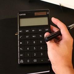 BLACK 블랙 디자인 전자 계산기 갓샵 심플 사무용 미니 컬러 계산기