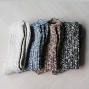 두꺼운 보카시 겨울 니트 양말 (4color)