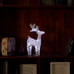 [비솜] 크리스마스 LED스탠드사슴 조명 무드등