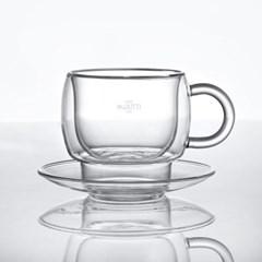 까사무띠 카페 이중유리 커피잔세트 180ml