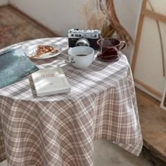 온더시애틀브라운 식탁보 테이블보 120x120cm 테이블러너