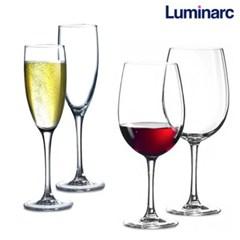 루미낙 와인 샴페인잔 2P세트 화이트 레드와인 캠핑용 와인잔