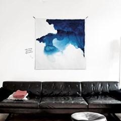 패브릭 포스터 S071 추상화 그림 액자 마이 페이보릿 블루