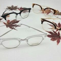 반뿔테 도수없는 가벼운 투명 레오파드 패션 안경