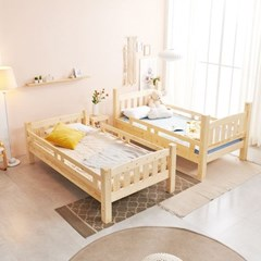 KUF 포아 원목 분리형 이층 침대 슬림 독립매트 SS_(2084946)