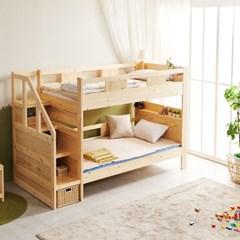 KUF 다모 원목 수납형 이층 침대, 슬림 독립매트 SS_(2084940)
