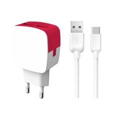 2.4A 듀얼 USB 충전기 TYPE- C케이블 세트