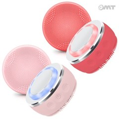 OMT 2in1 진동클렌저+온열 갈바닉 LED광파 마사지 얼굴 세안 브러쉬