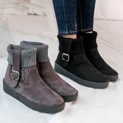 kami et muse Knit cuffs ankle fur boots_KM20w171