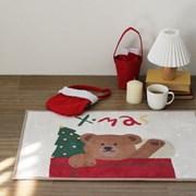 메리 크리스마스 인테리어 소품 극세사 발매트 - 4color