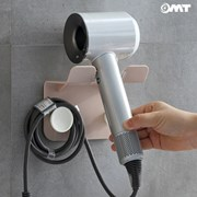 OMT 무타공 벽걸이 드라이기 수납 거치대 욕실용품 수납걸이