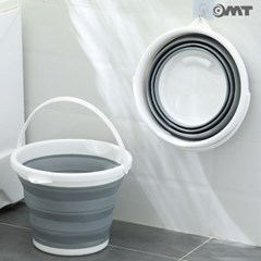 OMT 10L 대용량 휴대용 접이식 바스켓 욕실 세차 캠핑 낚시 물통