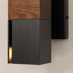 LED 쿠파 우드 벽등 블랙_(1980048)