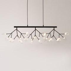 LED 식탁등 잎새 일자 1200 27등 샹들리에 블랙 27W 전_(1980037)