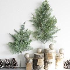 겨울 편백가지 열매 크리스마스 조화 1P 2size_(2086307)