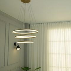 골드 3등 LED 식탁 펜던트 조명 60w