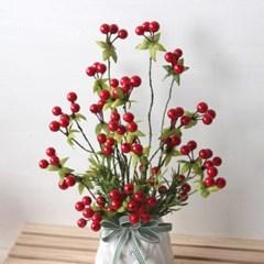 붉은열매 화분(조화)
