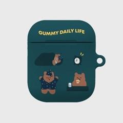 pattern daily life gummy 에어팟 하드케이스_(983811)