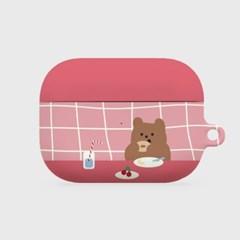 pink check brunch gummy 에어팟프로 하드케이스_(983808)