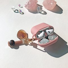 핑크브라운  키링 / 에어팟 케이스