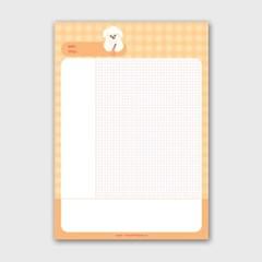 안경뽀꾸 A4 떡메모지_(983007)