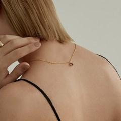 Heart Stone Necklace (925 Silver,Garnet,Topaz).01