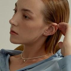 CZ & Heart Classic Mini Pearl Necklace (925 Silver).10