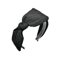 quilting ribbon hairband (black)