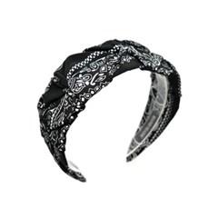 bandana shirring hairband (black)