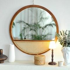 우드 등나무 벽거울