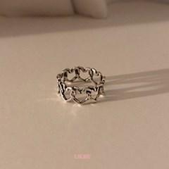[925실버] 러브러프 반지