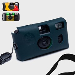 Disposable Camera leather Case_Teal Green
