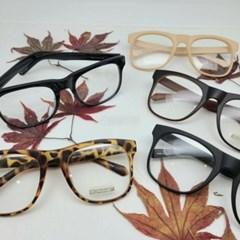 뿔테 호피 가벼운 도수없는 투명 레오파드 패션 안경
