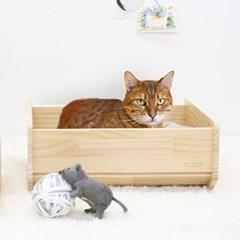 원목 고양이가구 하우스 스크래쳐 펫베드 대형